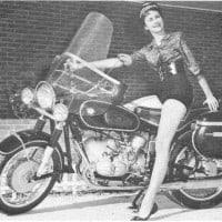 BMW girl on motorcycle