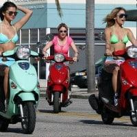 bikinis-riding-scooters